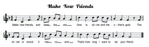 Make New friends Music back to school